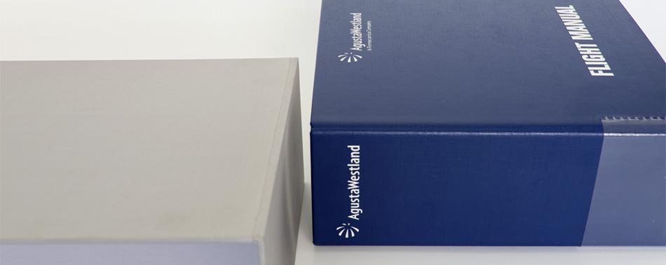Raccoglitore personalizzato rivestito con stampa serigrafica